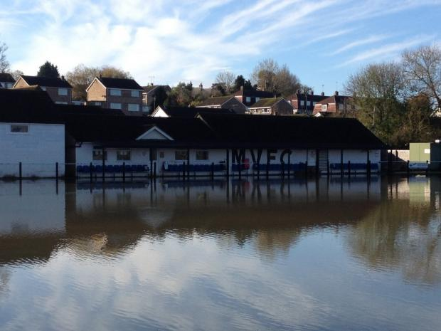 This Is Wiltshire: Vics' Flying Monk ground has been repeatedly flooded in the last two years, hitting the club hard financially