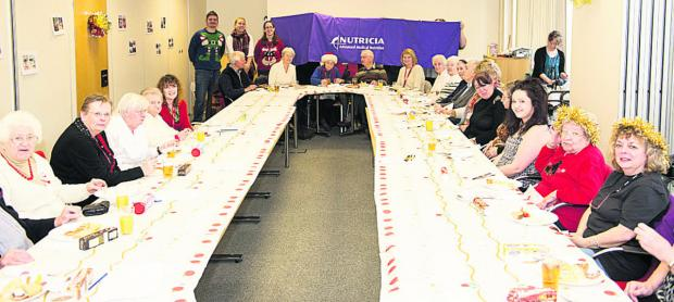 This Is Wiltshire: People with dementia and their carers at a party organised by volunteers from medical nutrition company Nutricia