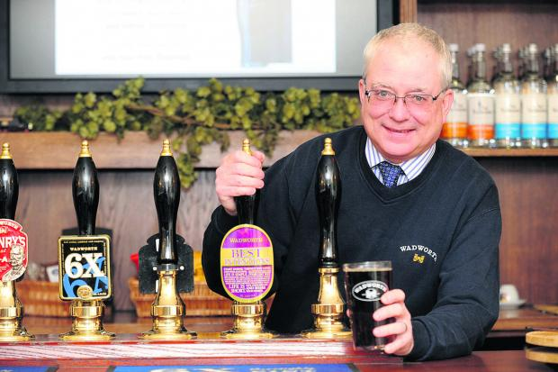 This Is Wiltshire: Wadworth's head brewer Brian Yorston                          (DV1005) by diane vose