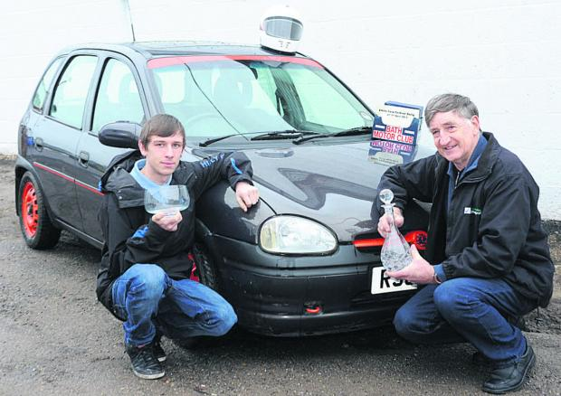 This Is Wiltshire: Autotest champion Ray Sissins, with 16-year-old grandson Conner