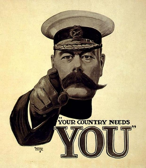 This Is Wiltshire: The famous First World War poster depicting Lord Kitchener