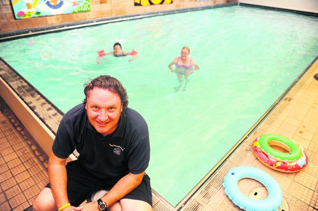 This Is Wiltshire: Manager Neil Montgomery at the Hydrotherapy Pool, which will benefit from funds raised by this year's charity ball