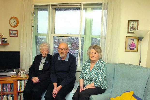 This Is Wiltshire: Cynthia Smith, Michael Messam and Jean Alexander, residents of Chantry Court