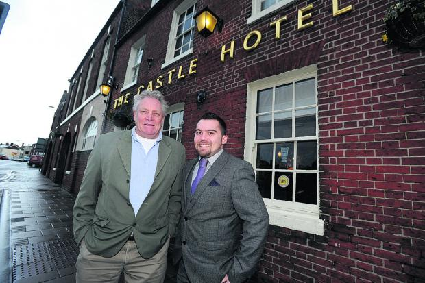 This Is Wiltshire: Bill Hicks, left, Devizes Professionals organiser, and John Hume, general manager of the Castle Hotel						                   (DV1002) By diane vose