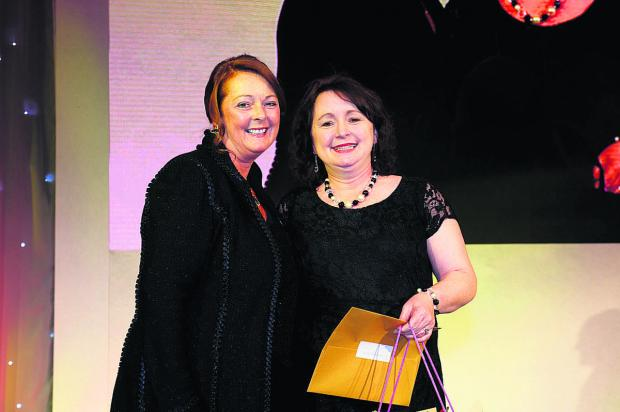 This Is Wiltshire: Debbie White, left, Sodexo UK and Ireland chief executive, with Nicole Owen