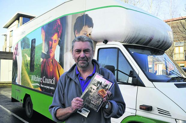 This Is Wiltshire: Mobile librarian and author Alan Richardson with his book about his grandfather's service in the First World War