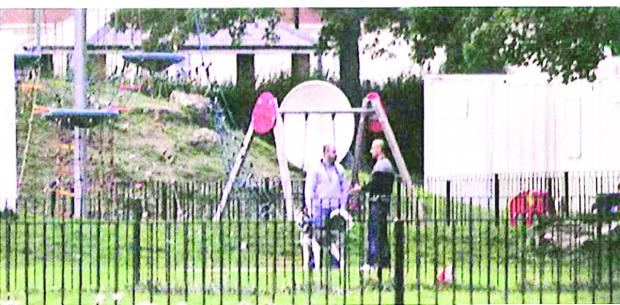 This Is Wiltshire: Surveillance officers observed Gary and Julian Cox meet Marsel Hudri in St Mary's park, Gorse Hill