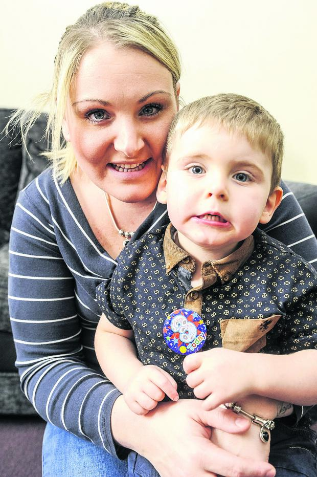 This Is Wiltshire: Jayden and his mum, Charlene Mazzotta