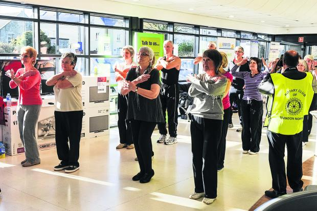 This Is Wiltshire: Swindon North Rotary Club doing a Zumba class in Highworth