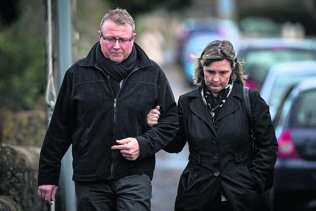 This Is Wiltshire: Steve and Yolanda at the coroner's court today for the start of  the inquest