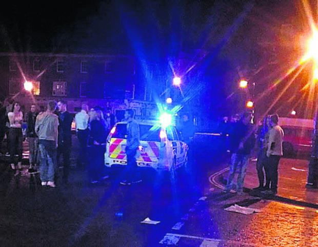 This Is Wiltshire: A picture posted online of the scene outside the Corn Exchange, Devizes, early on Sunday morning