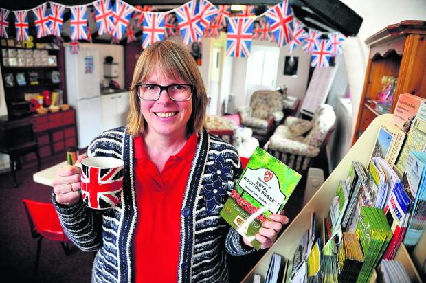 This Is Wiltshire: Owner Sheridan Parsons in Wootton Hall, Royal Wootton Bassett, which is now on the market after her visitor centre failed to attract customers