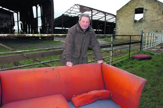 This Is Wiltshire: Farmer Nick Bush has tried in vain to deter doggers from meeting at his barn