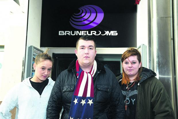 This Is Wiltshire: Some staff at the Brunel Rooms have quit because of not being paid. Pictured are workers Natasha Eagles, Sean Baxter and Gemma Le Gallez