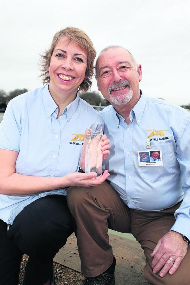 This Is Wiltshire: Cara and Rob Hodgson-Reed with their award