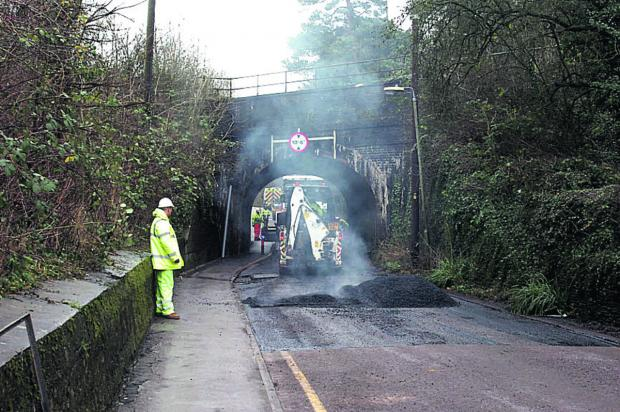 This Is Wiltshire: Work is being finished at Lowden Hill tunnel
