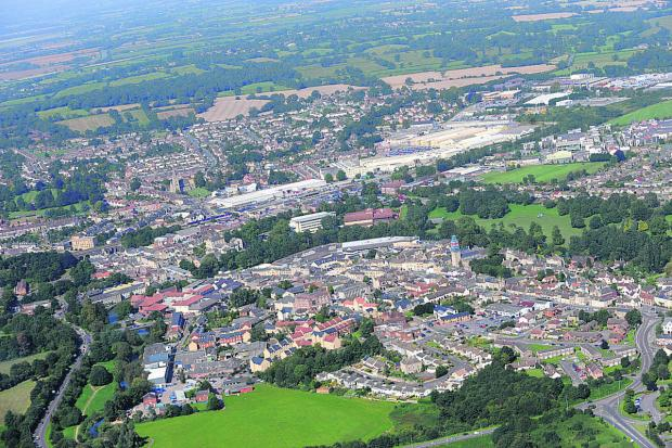 This Is Wiltshire: Aerial view of Chippenham