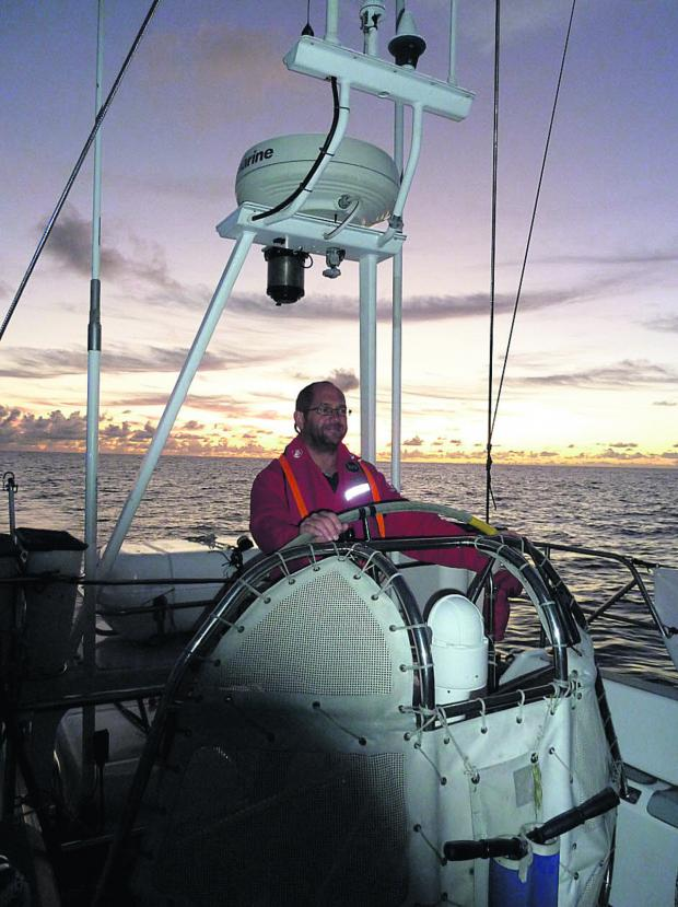 This Is Wiltshire: Richard Brady on board the Challenger yacht