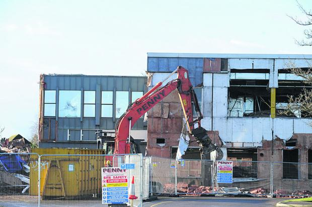This Is Wiltshire: emolition work starts at Wiltshire Council's former  offices in Bradley Road, Trowbridge