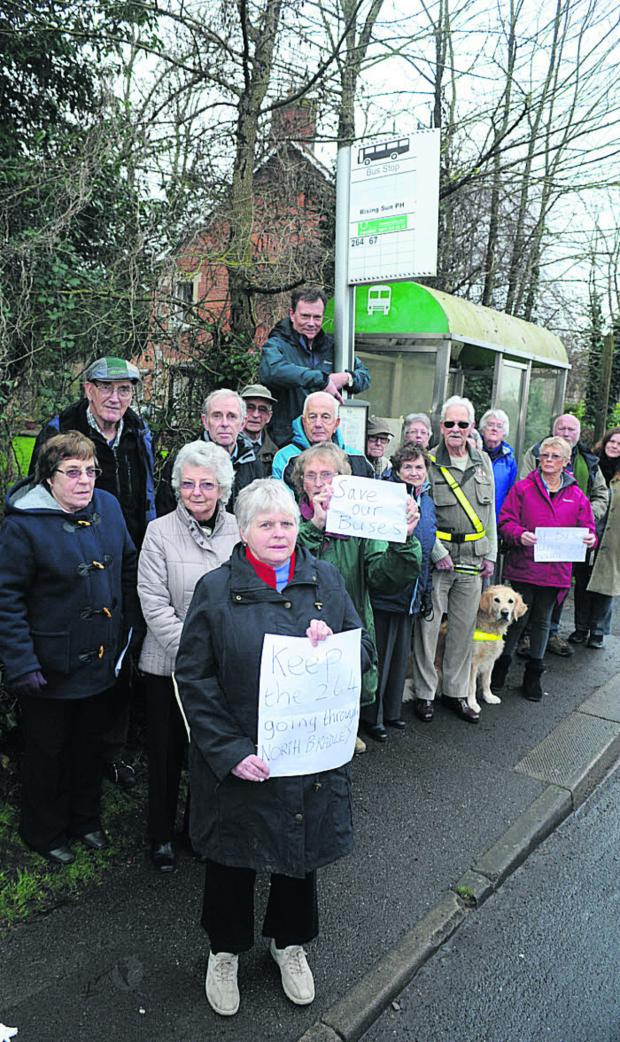 This Is Wiltshire: Pat Clarkson and fellow North Bradley villagers angry about the bus service cut