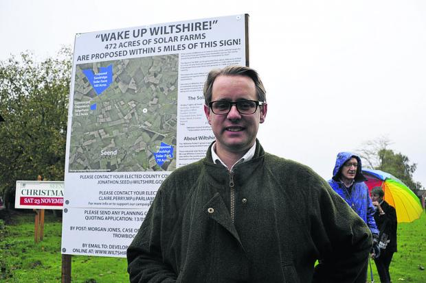 This Is Wiltshire: Jack Churchill during a protest against the solar farm