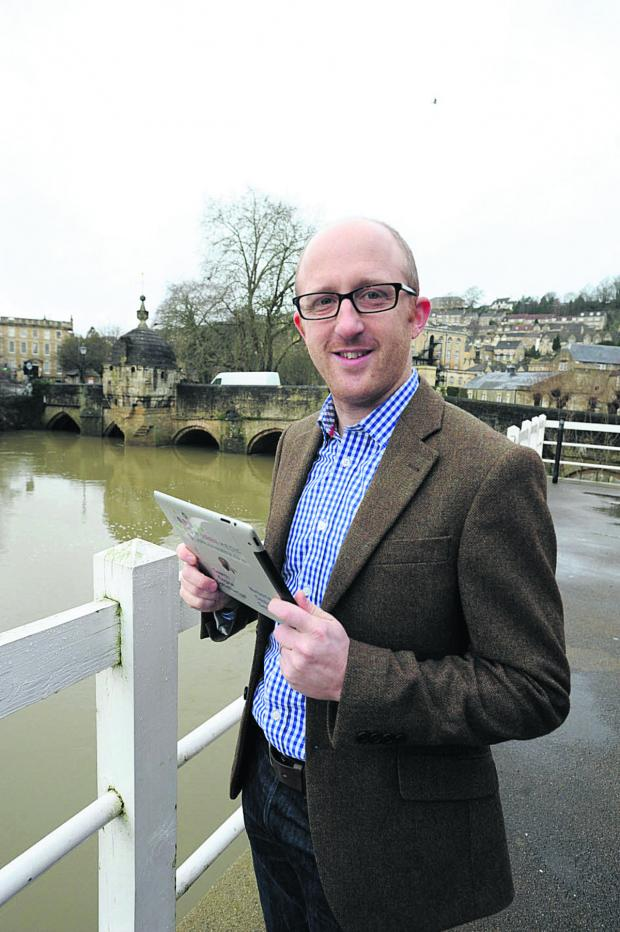 This Is Wiltshire: Tom Vaughton's company has been monitoring river levels in Bradford with a web camera