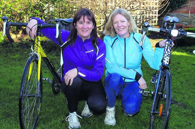 This Is Wiltshire: Alison Grainger and Oonagh Fitzgerald look forward to their challenge in aid of the Brighter Futures charity