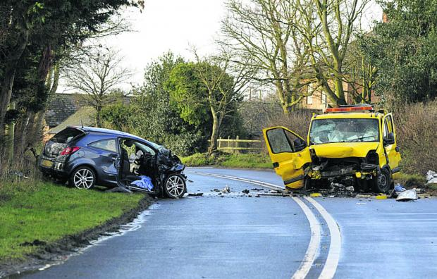 This Is Wiltshire: The scene of this morning's accident