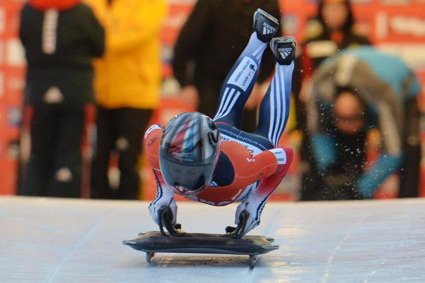 This Is Wiltshire: Shelley Rudman, pictured in action in Igls, Austria, today