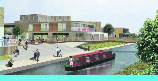 This Is Wiltshire: An artist's impression of the planned Waitrose supermarket for the Wichelstowe District Centre