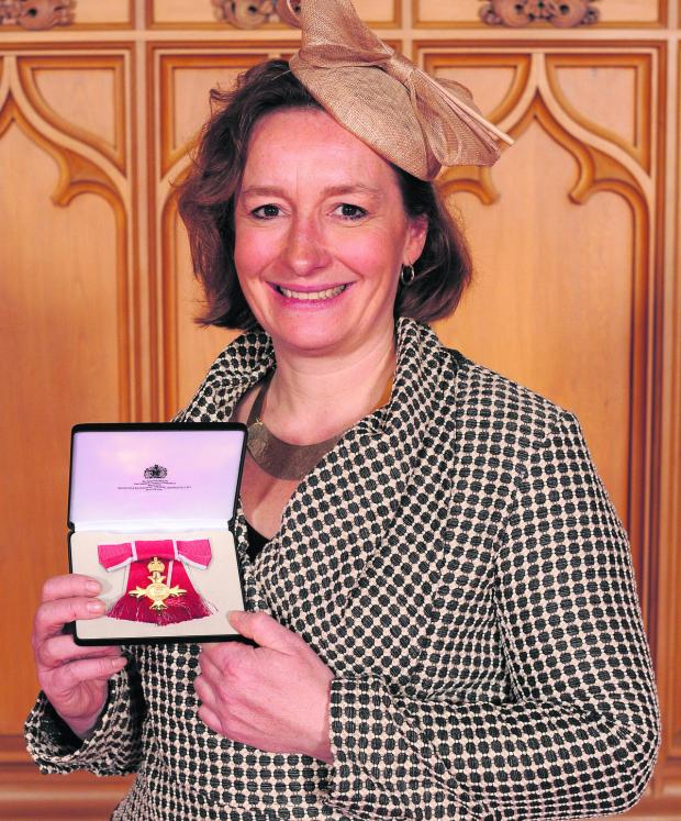 This Is Wiltshire: Good Energy chief executive and founder Juliet Davenport when she was made an OBE in April last year