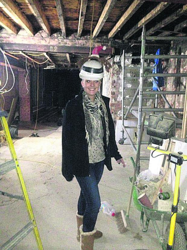 This Is Wiltshire: Charlotte Rogers, daughter of Dream Lounge owner Peter Rogers, inside the building