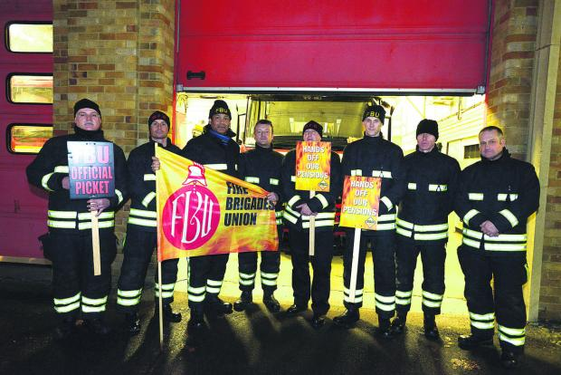 This Is Wiltshire: Drove Road fire station strike action last month and waiting for more action