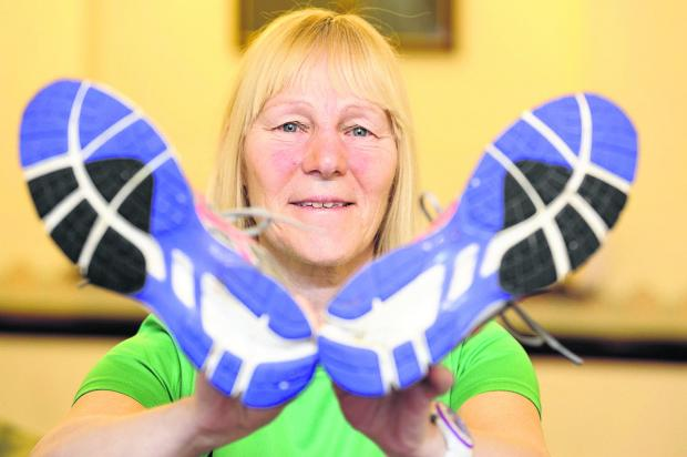 This Is Wiltshire: Jude Rouse is hoping the radiotherapy she will shortly be undergoing won't slow down her running
