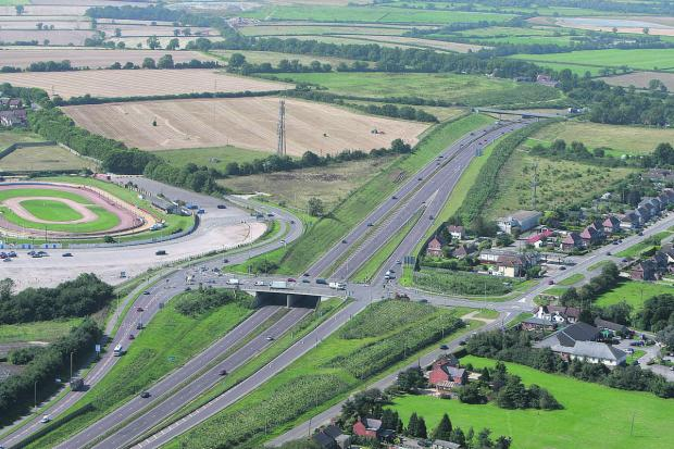 This Is Wiltshire: Blunsdon bypass with Blunsdon Stadium and Lady Lane on the left and Turnpike Road on the right.