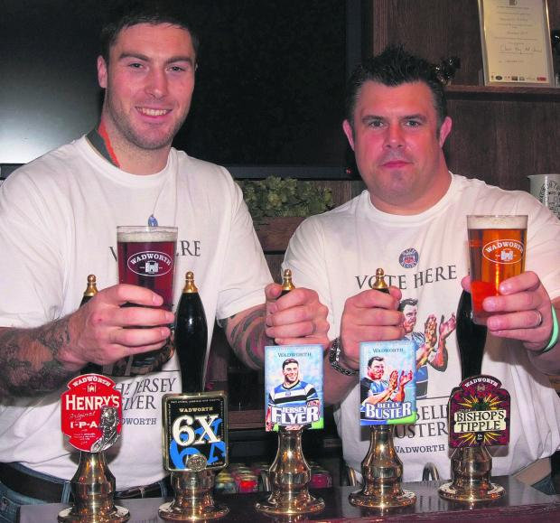 This Is Wiltshire: Bath Rugby winger Matt Banahan and former prop Duncan Bell have each helped create beers by Devizes brewer Wadworth
