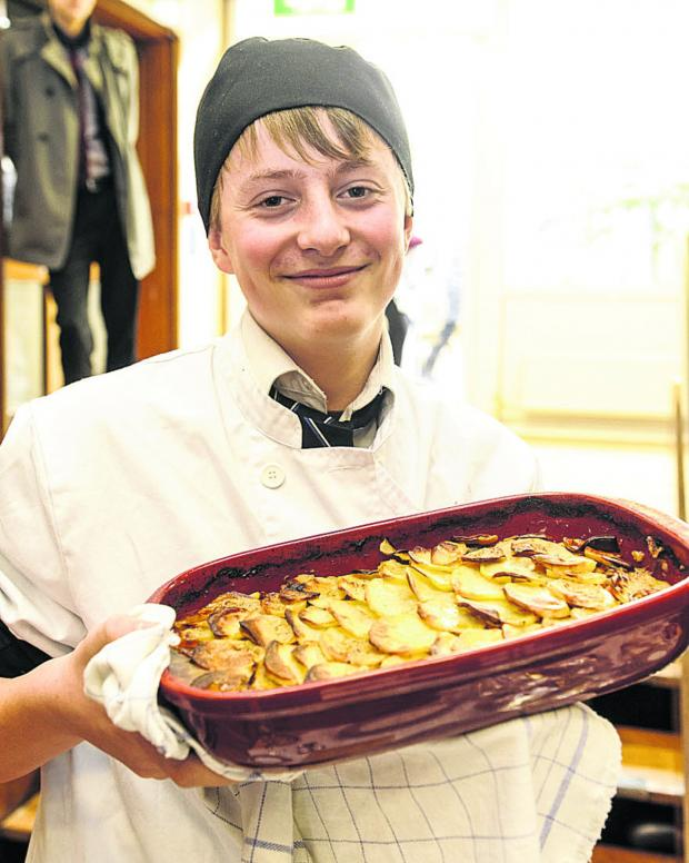 This Is Wiltshire: Pupil Arthur Smith shot the pheasant that was used for the weekly lunch at The Ridgeway School
