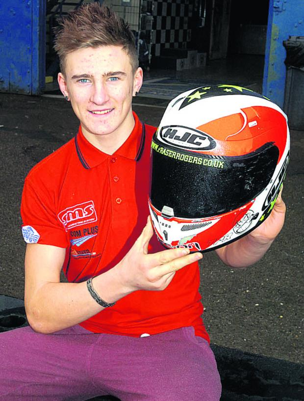 This Is Wiltshire: Fraser Rogers, pictured in Hullavington this week, starts his Supersport season in Australia next month