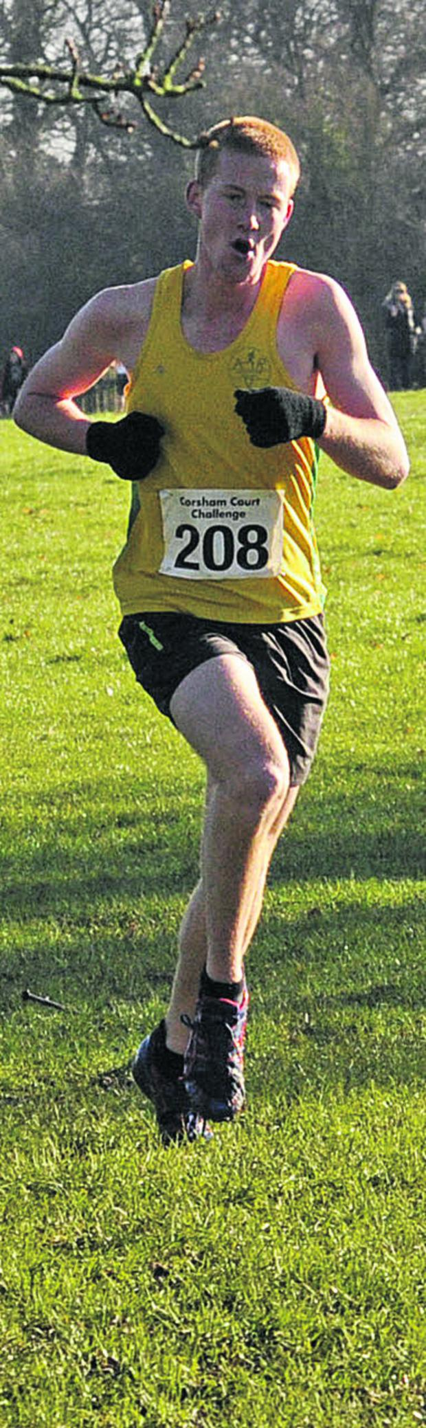 This Is Wiltshire: Avon Valley Runners' Michael Towler, on his way to victory on Sunday