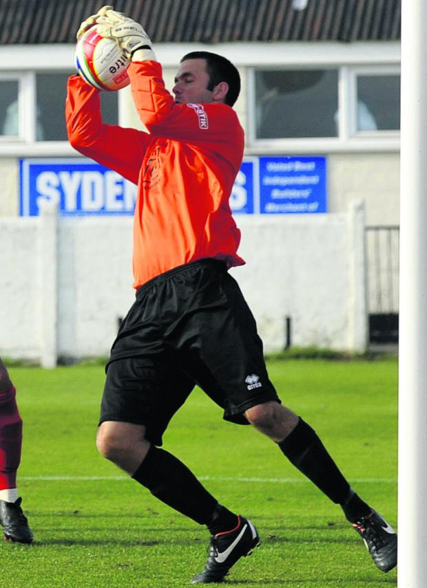 This Is Wiltshire: Goalkeeper Darren Chitty was in inspired form for Frome as they stunned leaders Hemel Hempstead Town on Saturday