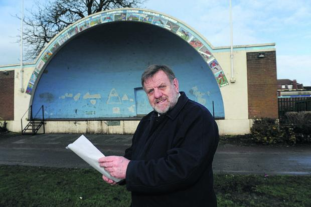 This Is Wiltshire: Cllr Graham Payne, Area Board chairman, looks at the history of the Trowbridge bandstand