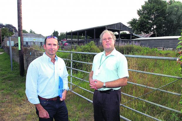 This Is Wiltshire: Redrow is due to meet Councillor Howard Greenman, right
