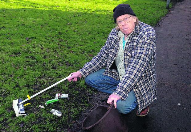 This Is Wiltshire: Retired lecturer Richard Savage is hoping to shame litterbugs