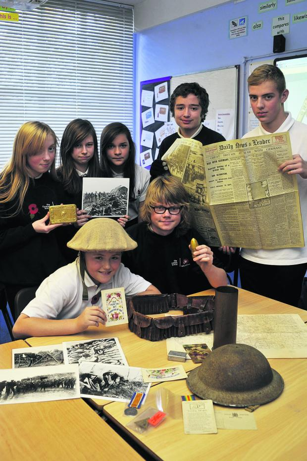 This Is Wiltshire: Corsham School learn about the First World War