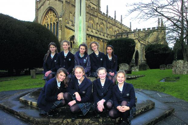 This Is Wiltshire: Pupils from St Mary's School, Calne, who are taking part in a First World War project