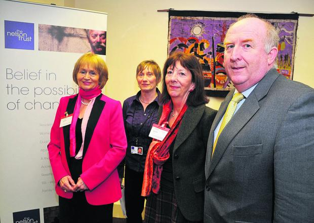 This Is Wiltshire: Baroness Corston, ISIS manager Rose Mahon, Liz Rijnenberg, of Wilts Probation Trust, and police commissioner Angus Macpherson at the opening of the centre tailored for female offenders