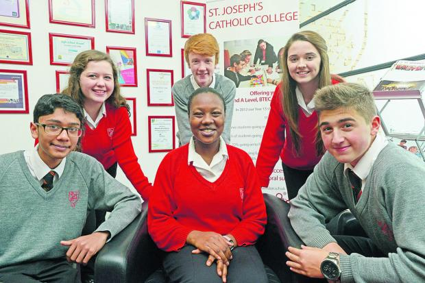 This Is Wiltshire: St Joseph's pupils Paulo, Katie, Fraser, Erron, Lola and Michael