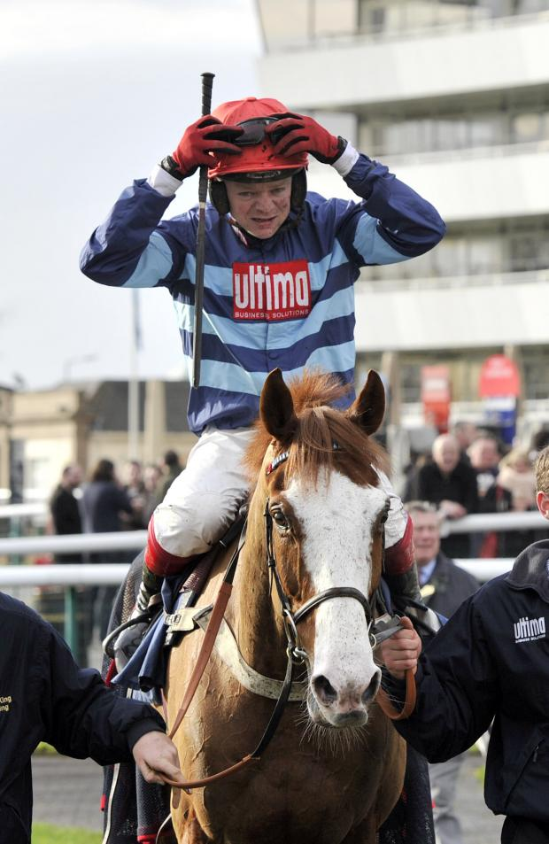 This Is Wiltshire: Valdez and jockey Robert Thornton return to the winners' enclosure followi