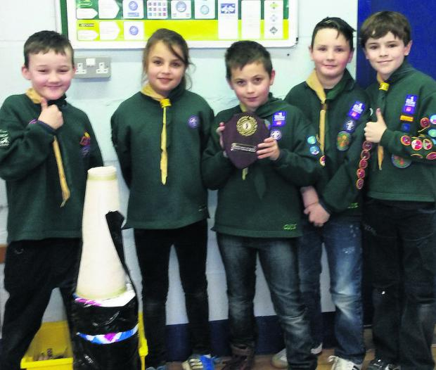 This Is Wiltshire: Cubs from the 1st Corsham Scout Group have won the annual District Cubs Scrapheap Challenge