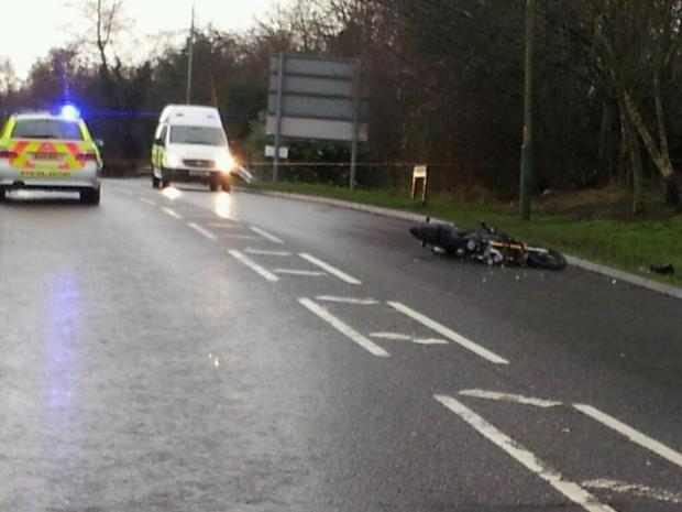 This Is Wiltshire: The accident scene on Whitehill Way